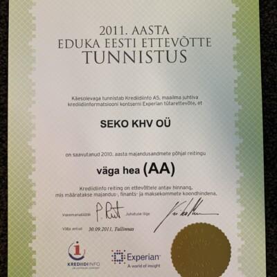 Edukas Eesti ettevõtte 2011