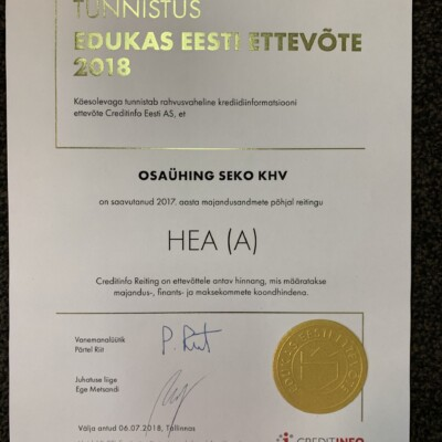Edukas Eesti ettevõtte 2018