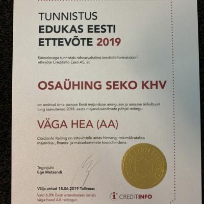Seko edukas Eesti ettevõtte2019